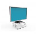 Crystal monitorstandaard